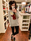 Holiday Spirit Tunic in Black and Gray