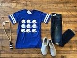 SALE! Helmet Ringer Tee in Royal