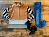 Stripes on Stripes Color Block Tunic