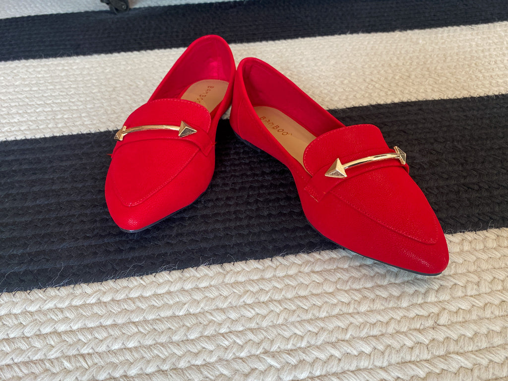 SALE! Horsebit Loafers in Red