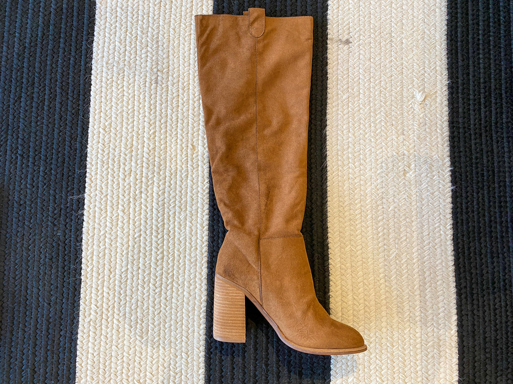 Saint Knee High Slouchy Boot in Caramel