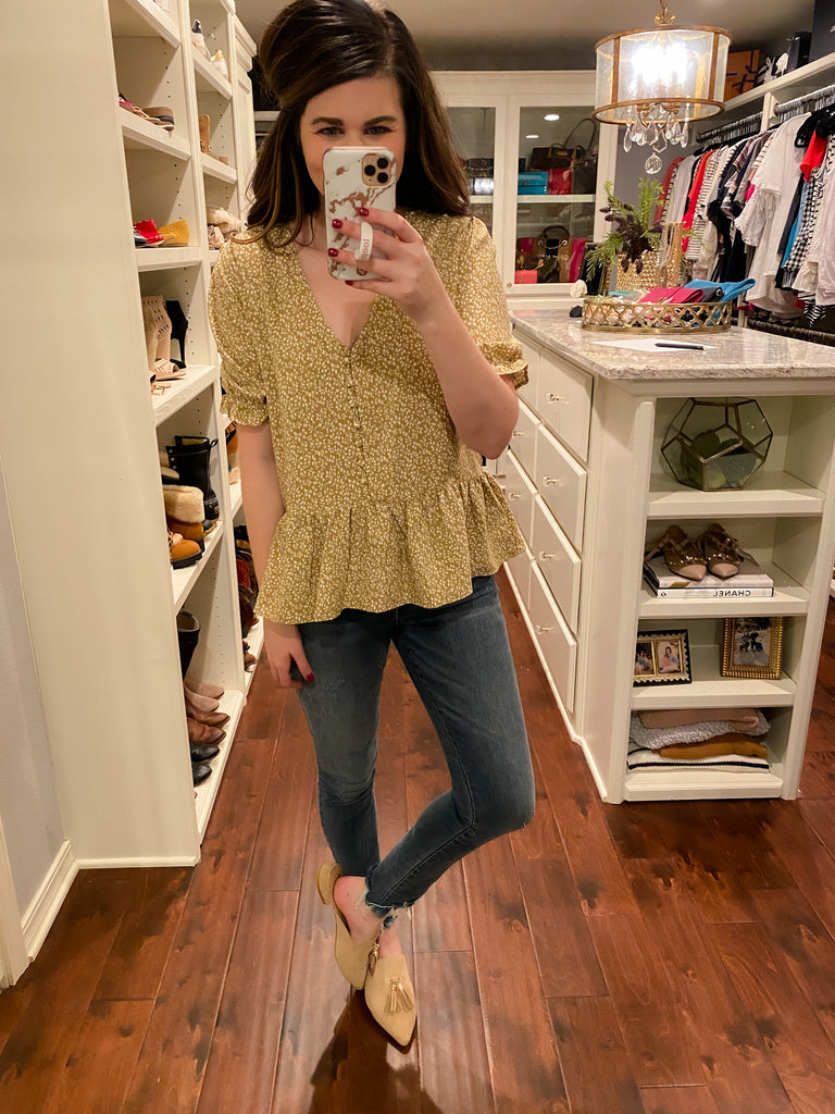 Laurel Canyon Top in Mustard