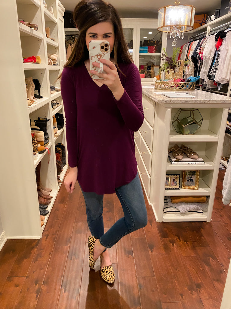 *BELLES & DOORBUSTER* Effie Long Sleeve V-Neck Top