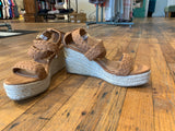 Mason Espadrille Wedges in Tan