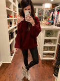 Spotlight Distressed Sweater in Burgundy