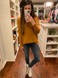 Feel the Chill Sweater in Heather Mustard
