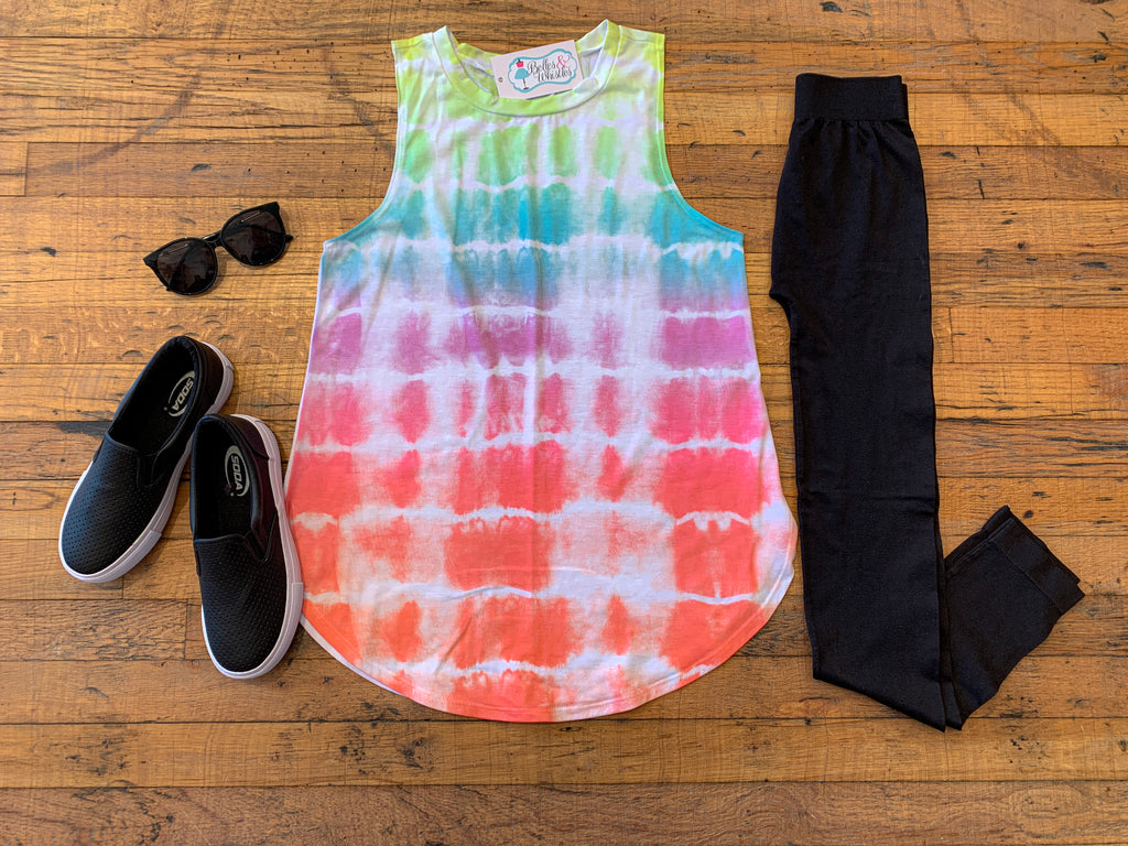 *BELLES & STEALS* Valley Vibes Tie Dye Tank