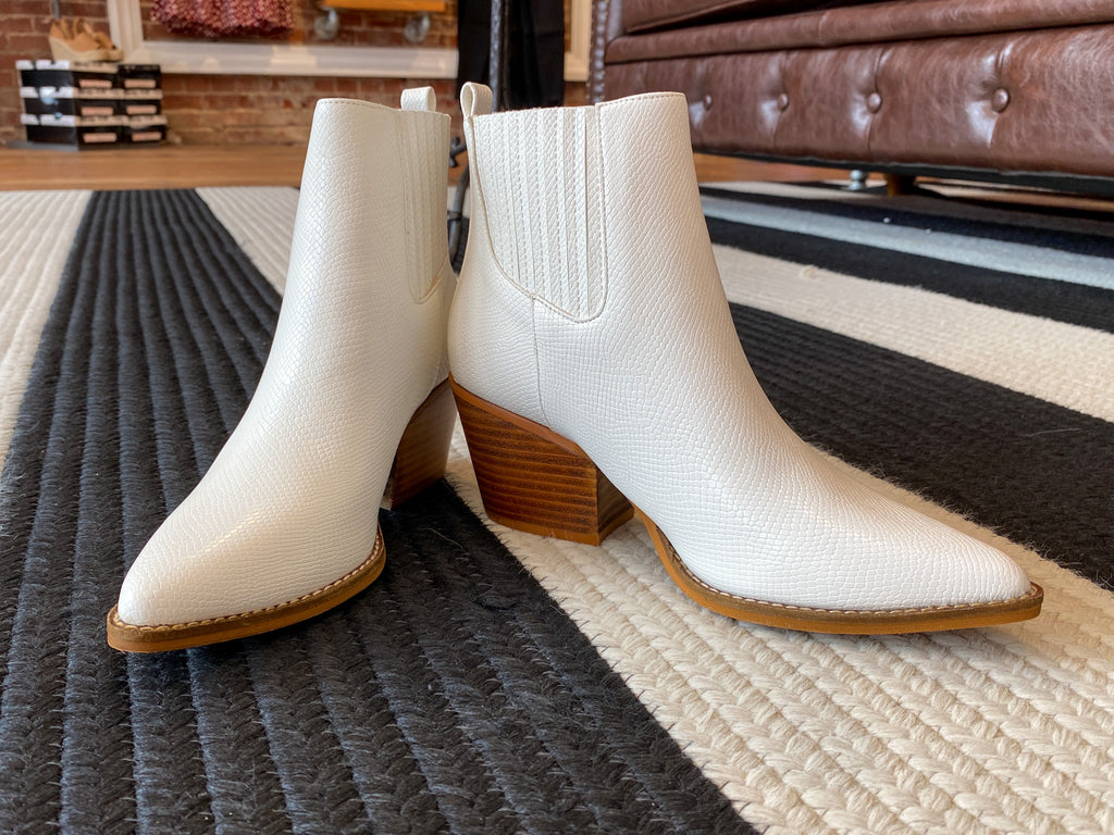 Shasta Booties in White