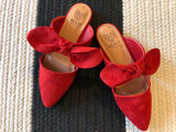 SALE! Bow Mules in Red
