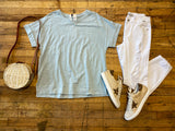 Stay Chill Tee in Ice Blue