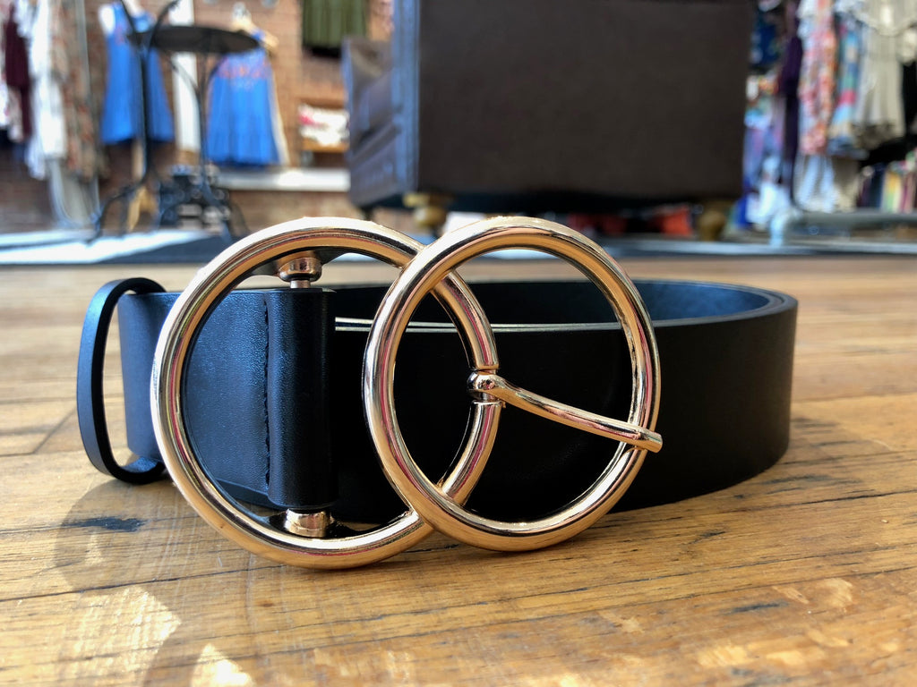 Double Ring Belt in Black