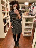 Wells Tunic Dress in Black/White