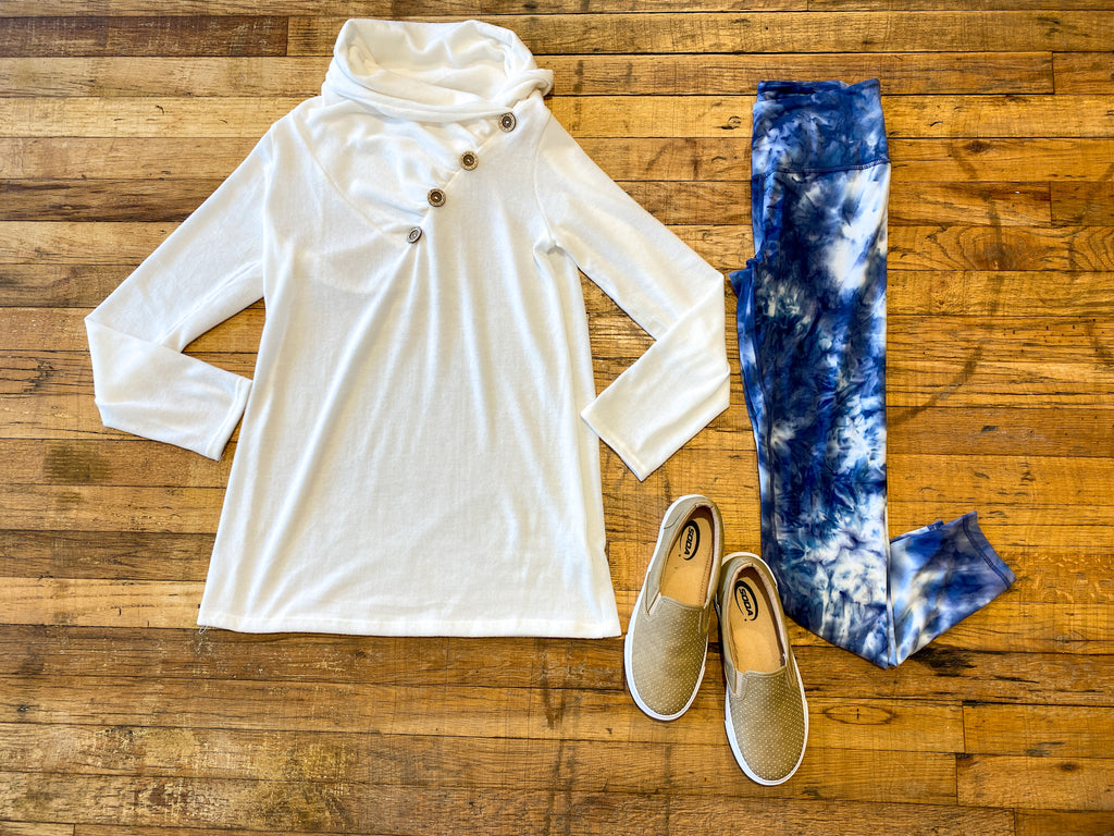 Buttoned Up Tunic in White