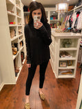 Bennett Button Top in Black