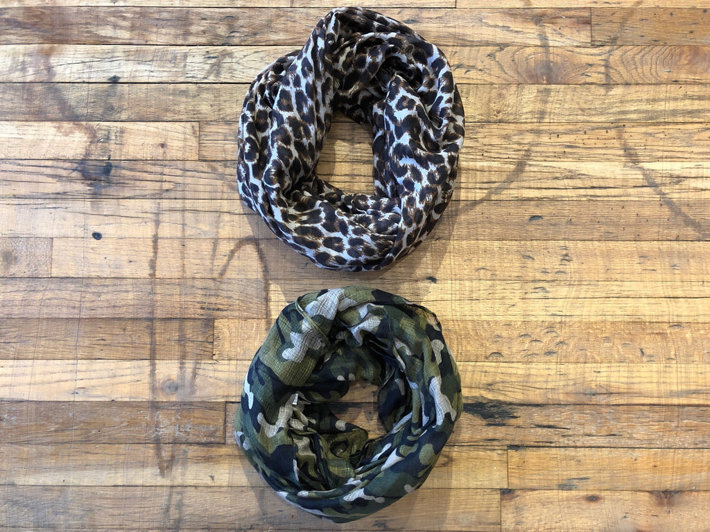 Infinity Scarf in Leopard and Camo