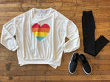 Technicolor Heart Sweatshirt
