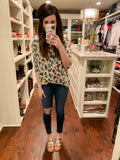Watercolor Leopard Tunic