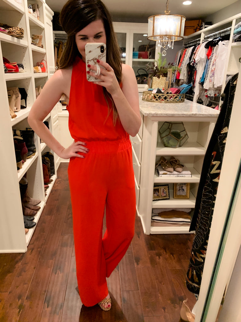 Cause for Celebration Jumpsuit in Red