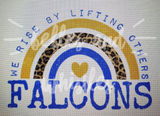 PREORDER! Falcons We Rise By Lifting Others Tee - Ships in THREE Weeks!