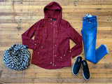 SALE! Balmoral Utility Jacket in Wine