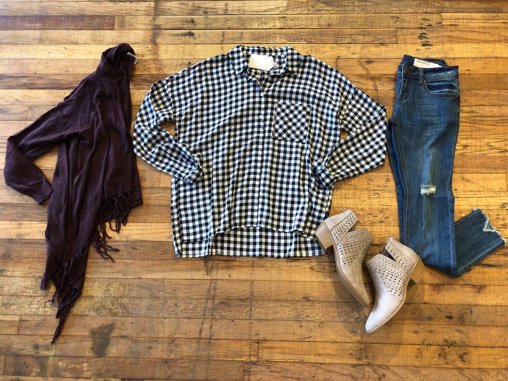 Bruin Gingham Button Down