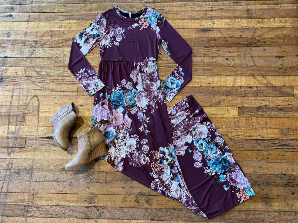 SALE! Nightingale Maxi Dress in Plum