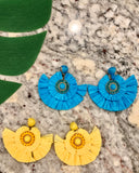 Pacific Paradise Earrings in Turquoise and Yellow