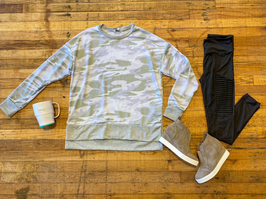 Salute Your Style Camo Pullover