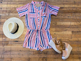 Scottie Striped Romper