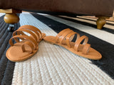 Santorini Stroll Sandals in Tan
