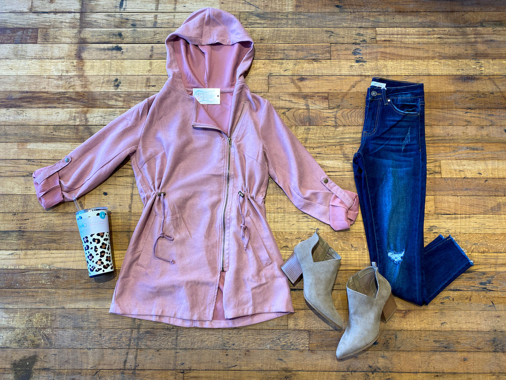 SALE! *BELLES & STEALS* More than a Crush Blush Utility Jacket