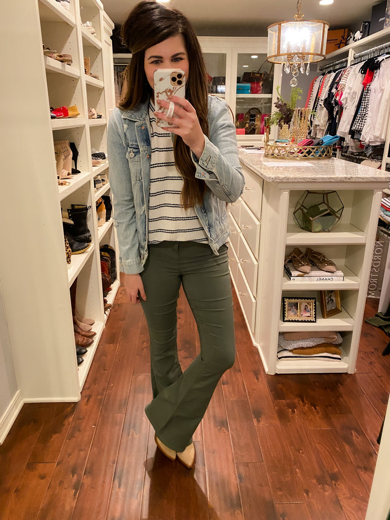 YMI Hyperstrech Flares in Olive