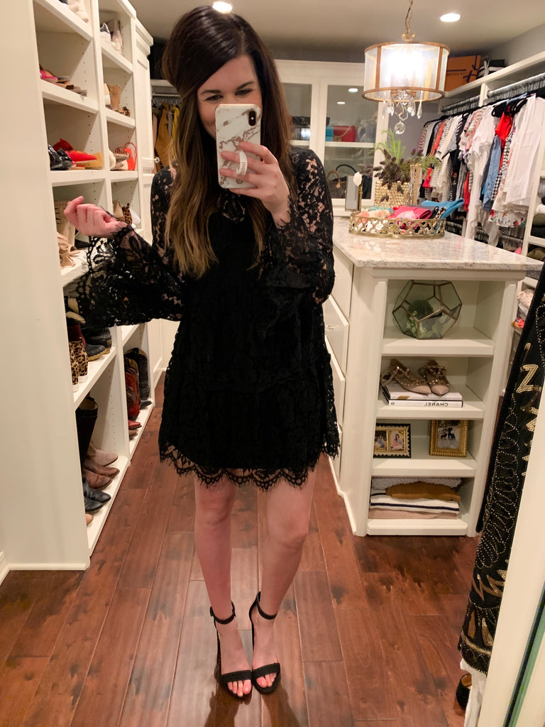 My Best to You Lace Dress in Black