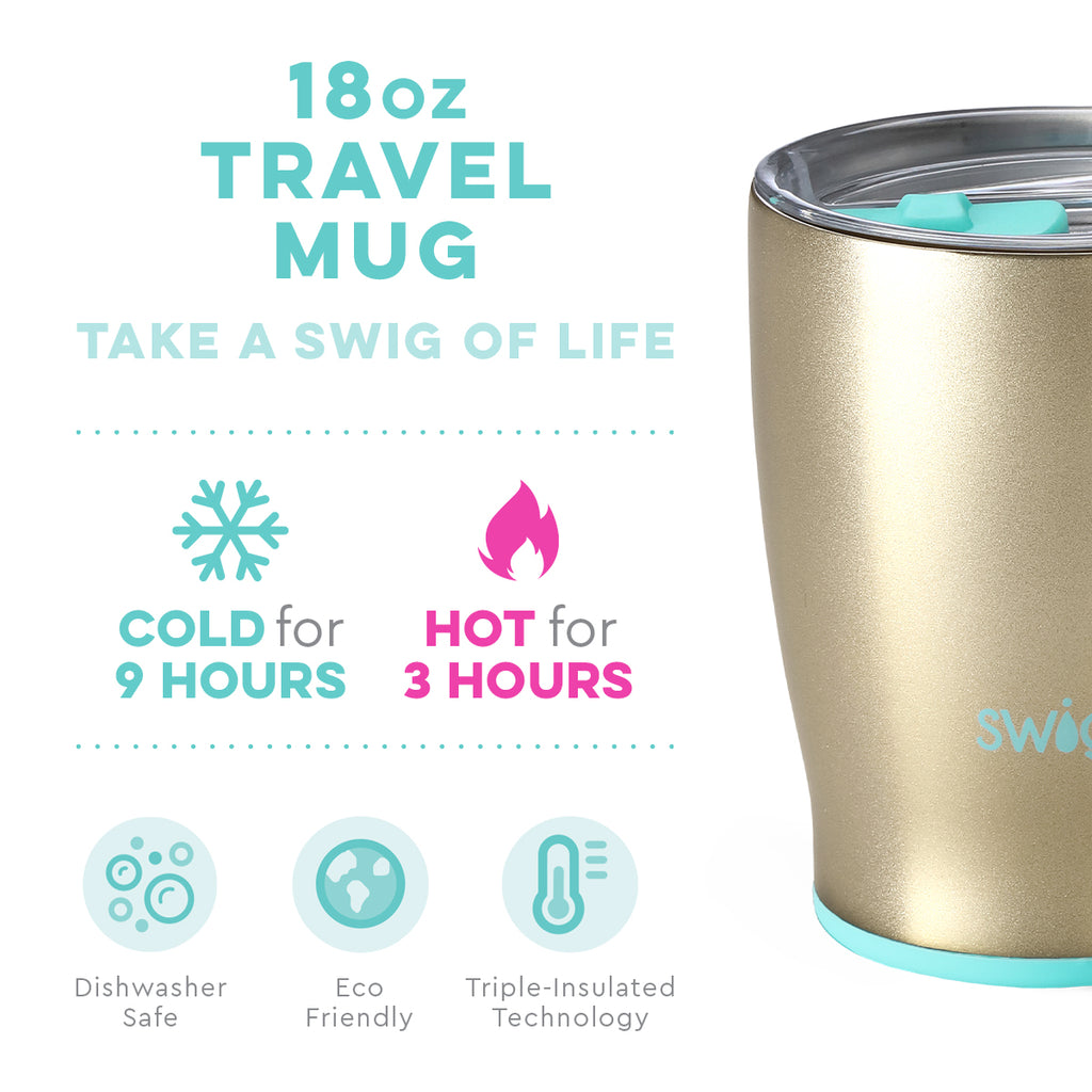 Swig Champagne 18oz Mug with Lid