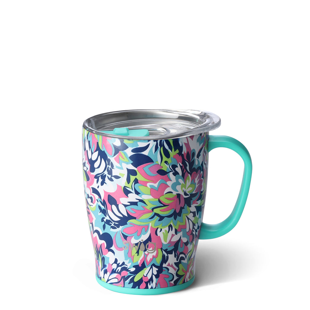 Swig Frilly Lilly 18oz Mug with Lid