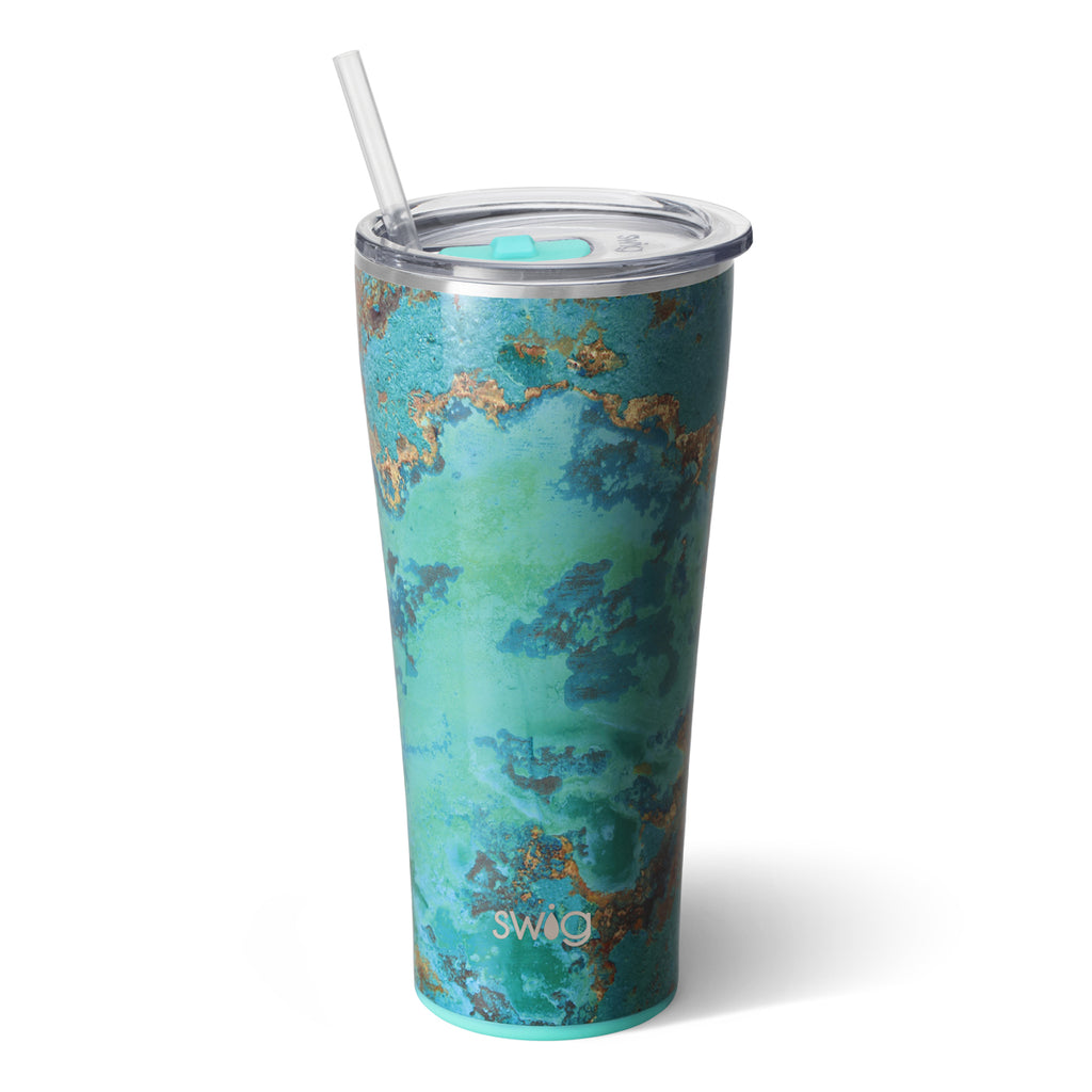 Swig Copper Patina 32oz Tumbler with Straw