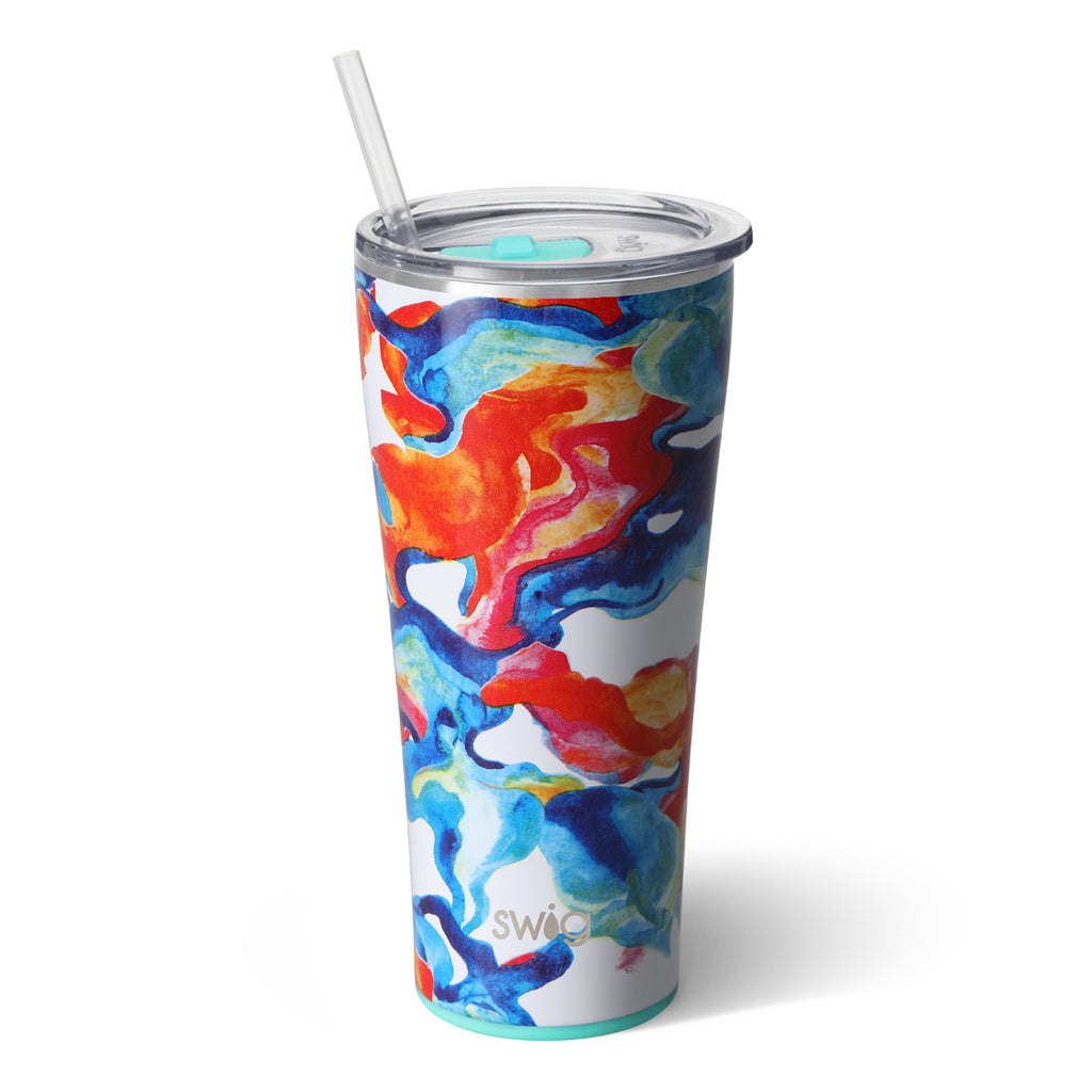 Swig Color Swirl 32oz Tumbler with Straw