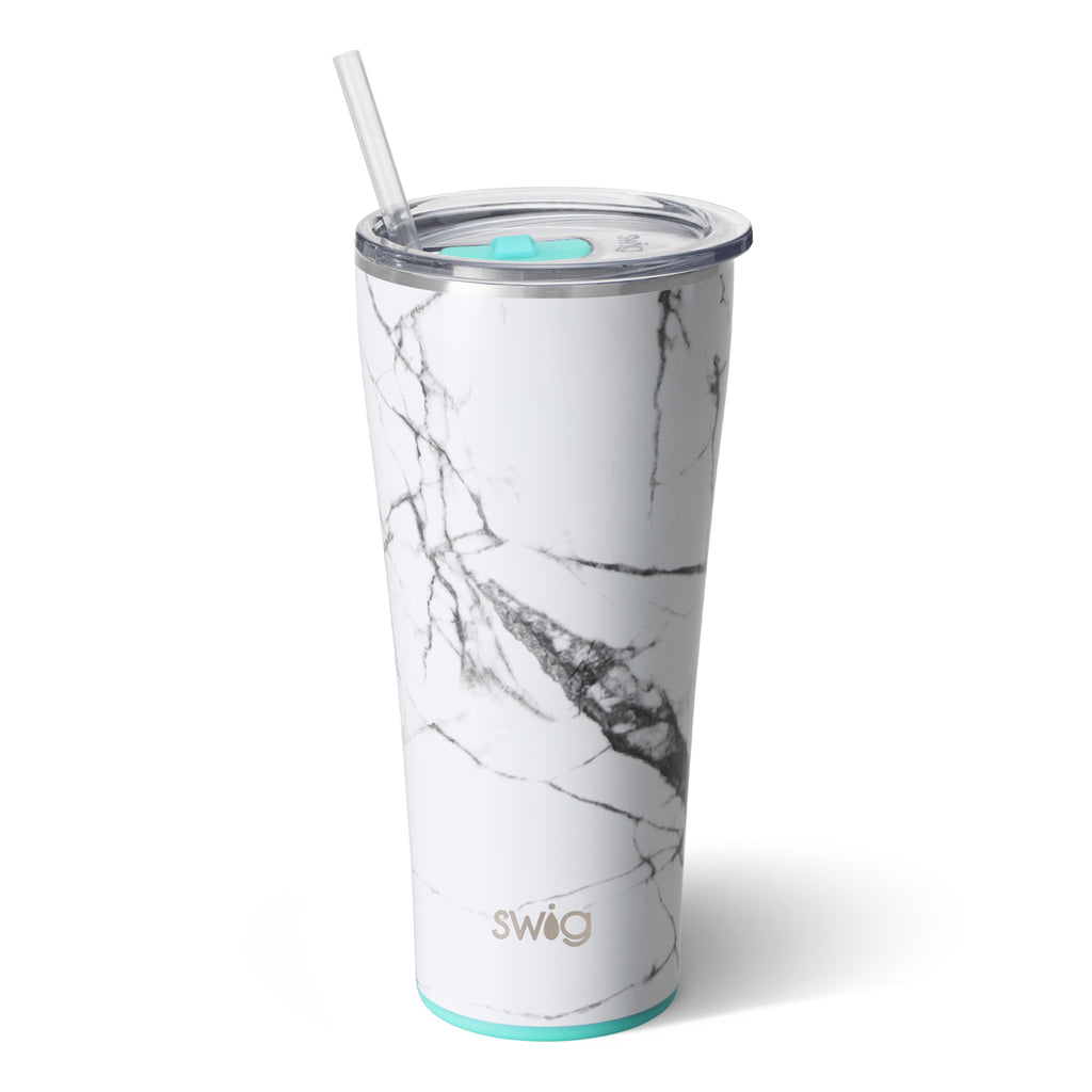 Swig Marble Slab 32oz Tumbler with Straw