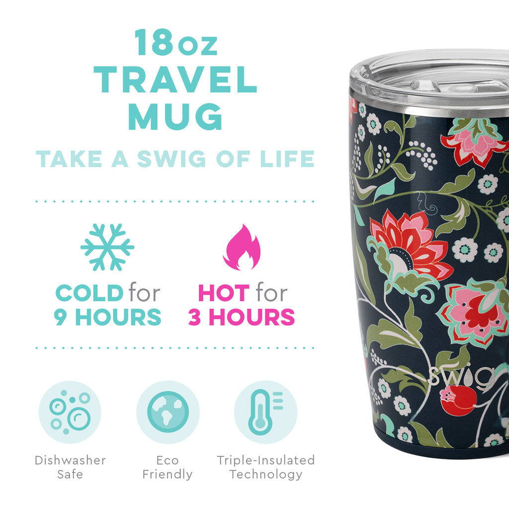 Swig Lotus Blossom 18oz Mug with Lid