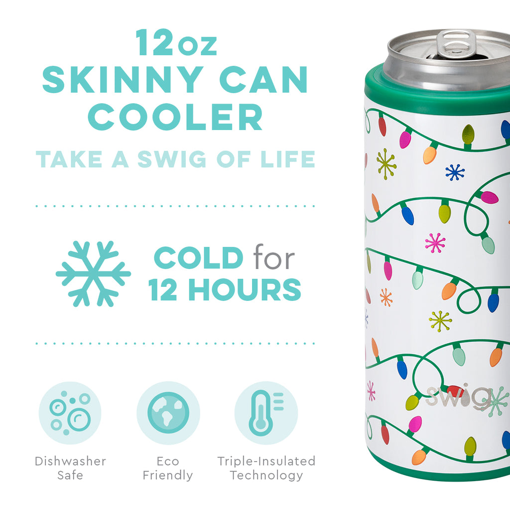 Swig Let it Glow 12oz Skinny Can Cooler