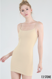 Nikibiki Camisole Slip Dress in Stone