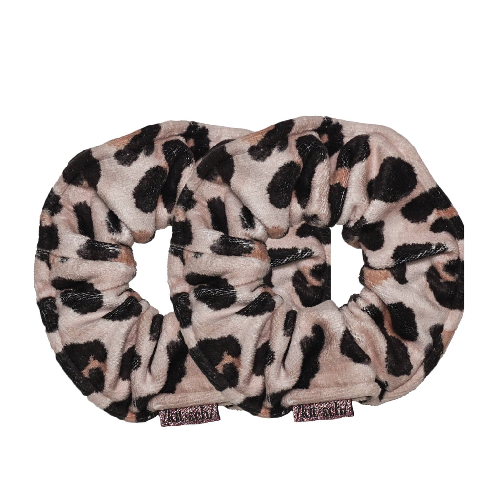 Microfiber Towel Scrunchies in Leopard
