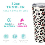 Swig Luxy Leopard 32oz Tumbler with Straw