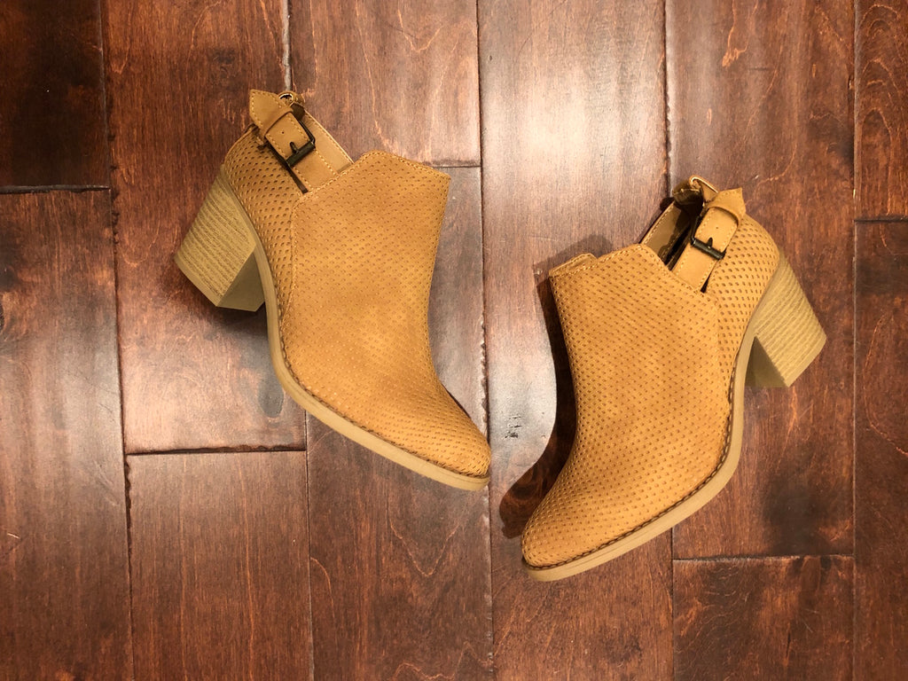 SALE! Lambert Booties in Tan
