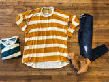 Patton Rugby Tunic in Green and Mustard