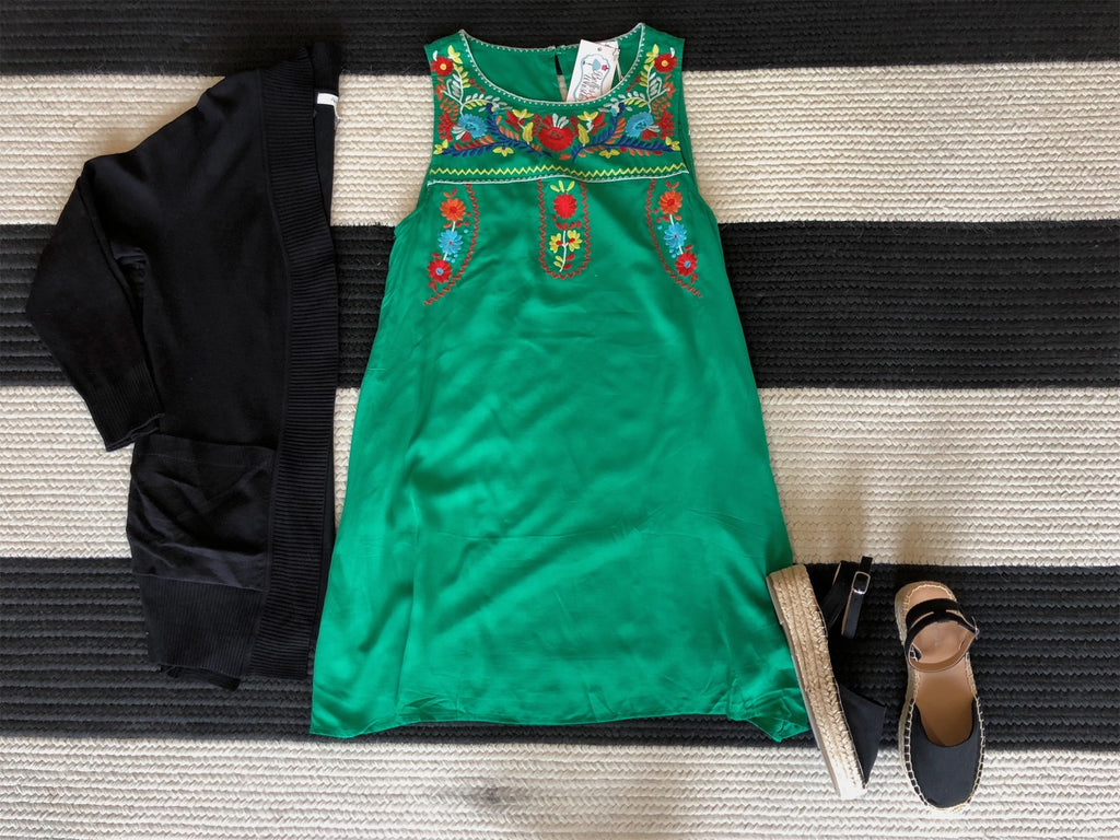 First Class to Cancun Dress in Green