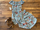 Dirt Road Dreamer Maxi Romper Dress in Sage