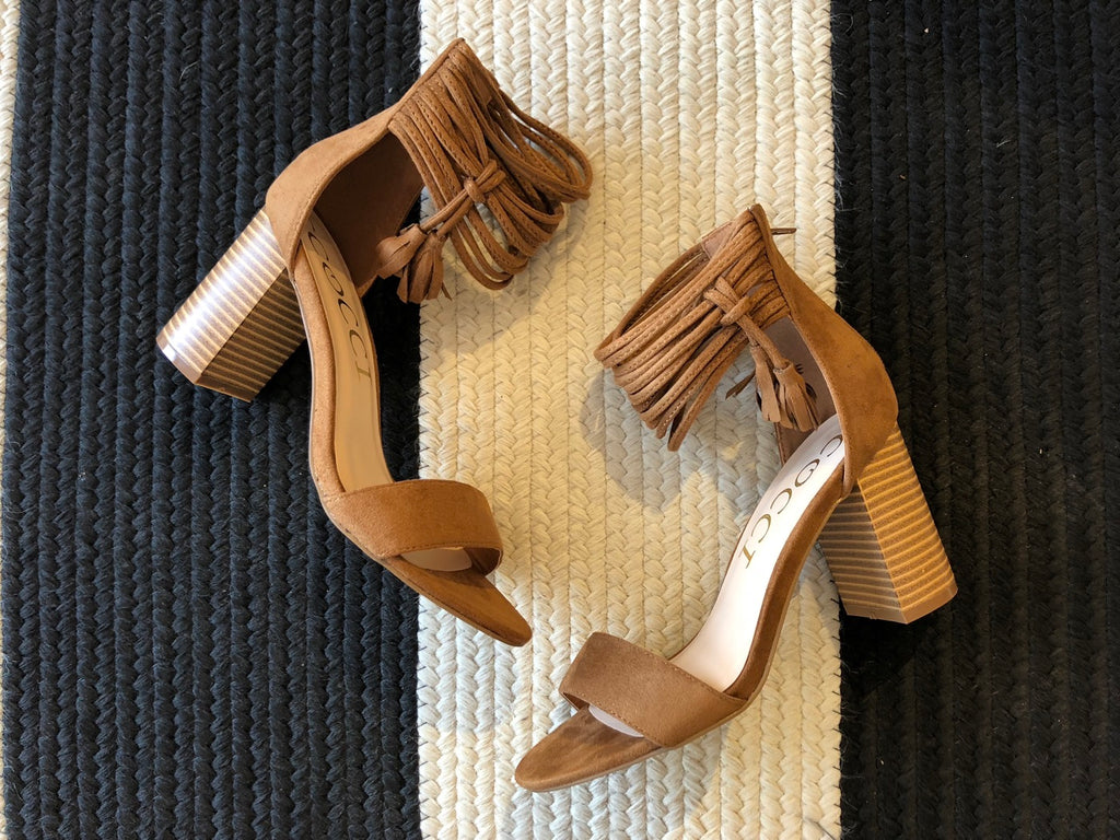 City Lights Heels in Tan