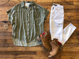 Somerset Top in Olive