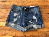 Jenner Shorts in Medium Wash